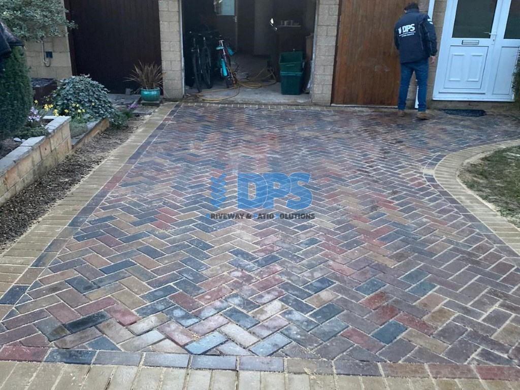 Block Paved Driveway with Buff Border in Gloucester