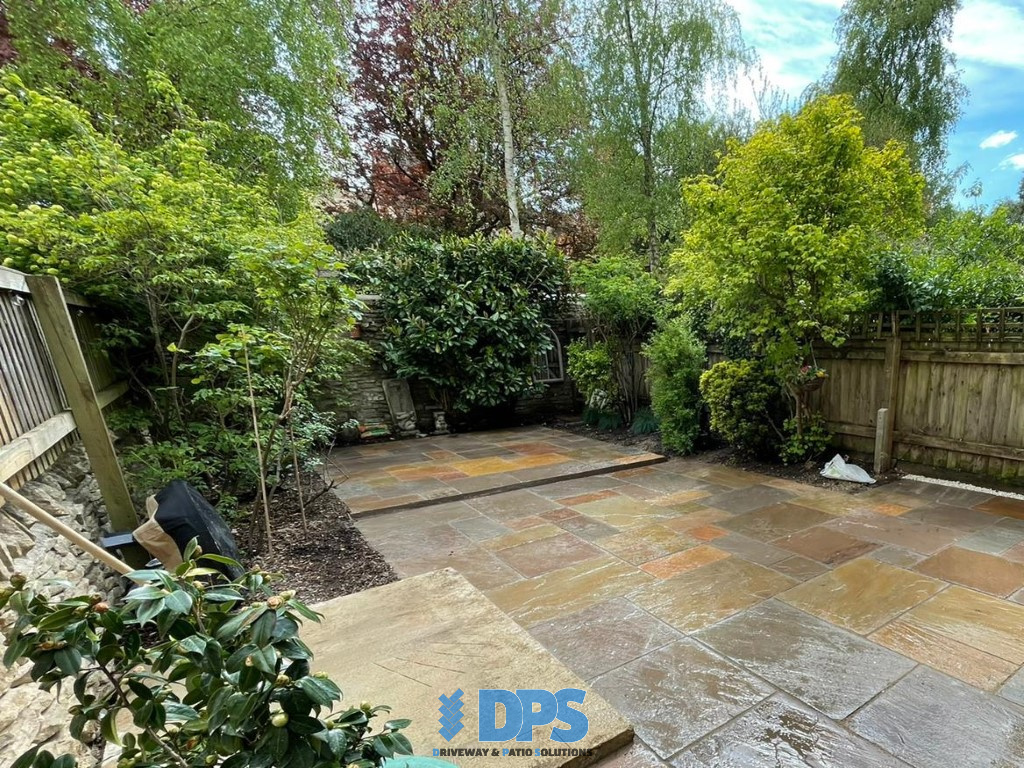 Tiered Sandstone Patio in Cirencester (3)