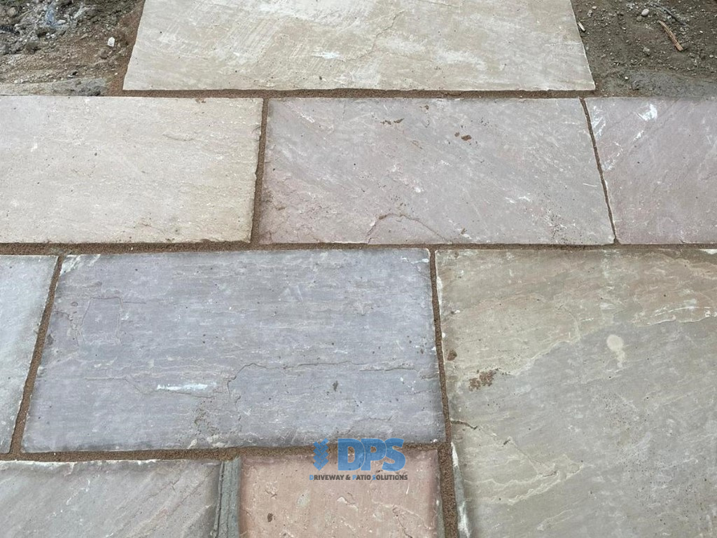 Patio with New Step and Pathway in Gloucester (2)