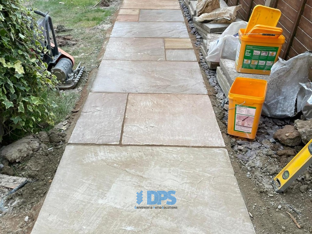 Patio with New Step and Pathway in Gloucester (3)