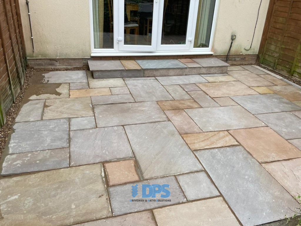 Patio with New Step and Pathway in Gloucester (4)