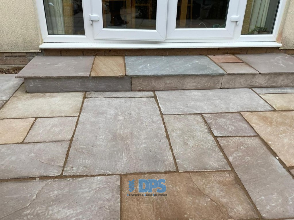 Patio with New Step and Pathway in Gloucester (5)