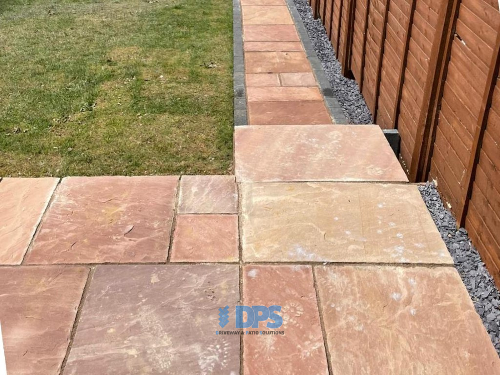 Raised Patio with Charcoal Border in Gloucester (2)