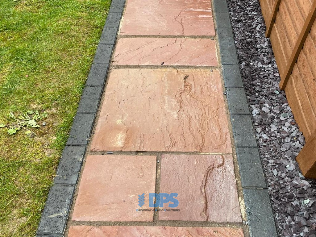 Raised Patio with Charcoal Border in Gloucester (3)